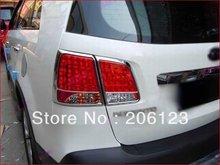 Envío gratis cola del cromo cubierta de la luz recorta para Kia Sorento 2010 2011 4 unids nuevo 2010 2011