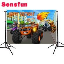 Sensfun 7x5FT Blaze macchina sfondo Personalizzato Sfondo Studio Fotografico Neonato Fondale In Vinile 220 cm x 150 cm