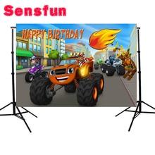 Sensfun 7x5FT Blaze machine background Custom Photo Studio Background Baby Newborn Backdrop Vinyl 220cm x 150cm