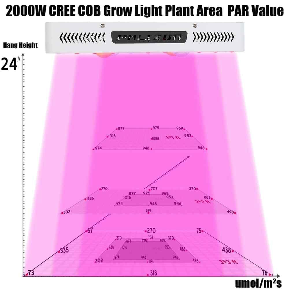 1000 W 2000 W bitki ışığı tam spektrumlu LED COB Bitki Sera Kapalı Bitkiler için Işık Lambası Büyümek Sebze Çiçek, Çift Cips