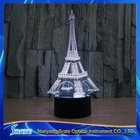 3D Vision Hirsch FÜHRTE Acrylplatte 7 Farben Gradienten Der Eiffelturm Paris Frankreich Schreibtischlampe Schlafzimmer Dekoration Nachtlicht