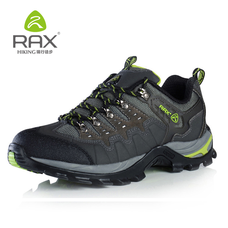 RAX Suede Leather Shoes Men Surface Waterproof Breathable Outdoor Hiking Shoes Men Women Climbing Trekking Shoes 15-5C007 rax outdoor hiking shoes woman leather surface waterproof hiking shoes for men lightweight trekking mountain climbing shoes men