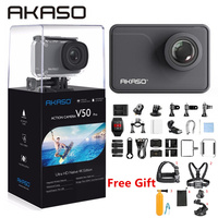 AKASO V50 Pro NIC 4 K/30fps 20MP WiFi Экшн камера 4 K с сенсорным экраном EIS регулируемый угол обзора 30 m Водонепроницаемая камера