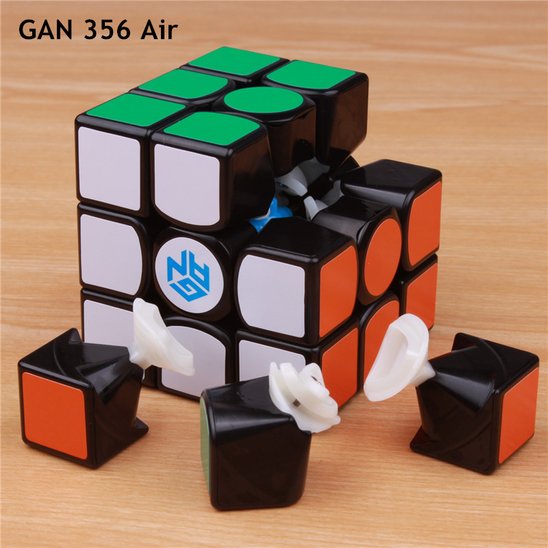 GAN 356 Air v2 Master and standards puzzle  magic speed cube professional gans cubo magico advance  version toys for children shengshou 10x10x10 magic cube puzzle black and white and primary learning