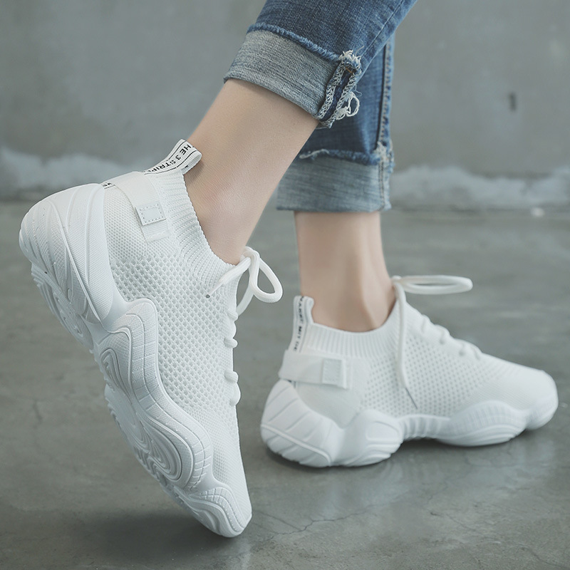 Hot New Running Shoes Woman Women's Mesh Flat Shoes Slip-on Casual Sport Shoes Walking Sneakers Soft Shoes Plus Zapatos De Mujer