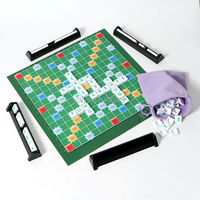 Family Funny Scrabble Board Crossword Game Bringing Letters And People Together For 2 4 Players