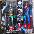 "Batman v Superman: madrugada de Justiça 2016 Batman vs Superman Pode luz e som PVC Action Figure Collectible Modelo Toy 12 ""CP008"