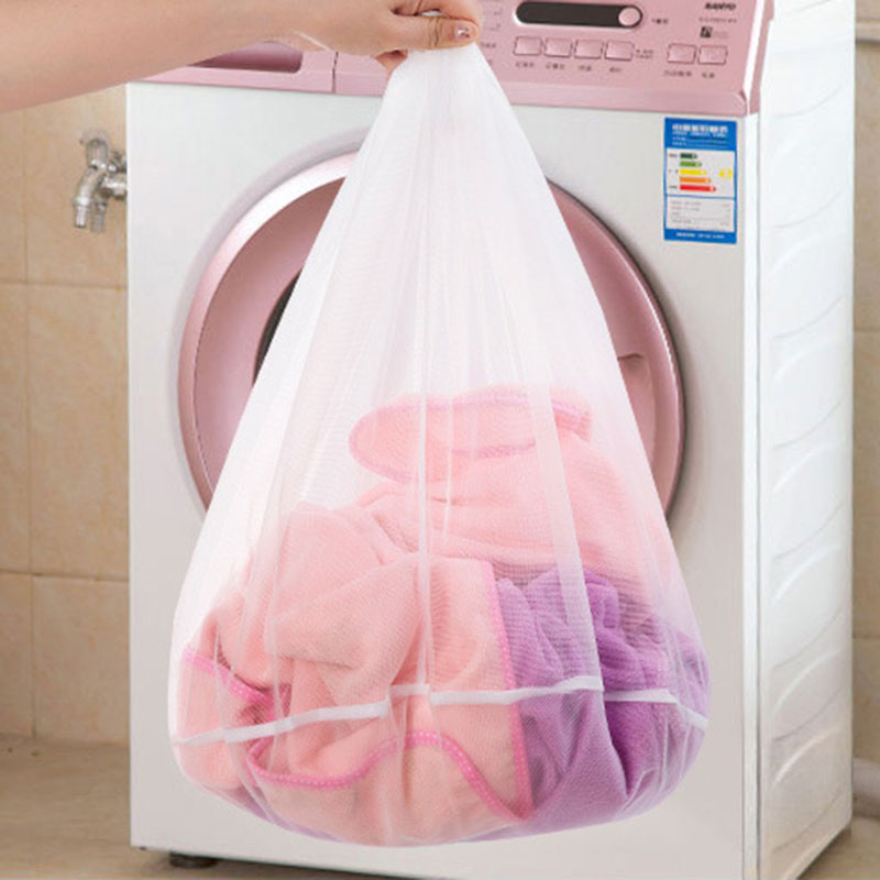 Hot Laundry Net Bag Drawstring Closure Washing Machine Aid Mesh Bags For Shirts Bra Lingerie Underwear FQ-ing