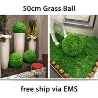Yoshiko 2pcs 50cm Artificial Eucalyptus Grass Topiary grass Ball Outdoor Hanging Ball Wedding Party Home Yard Garden Decoration