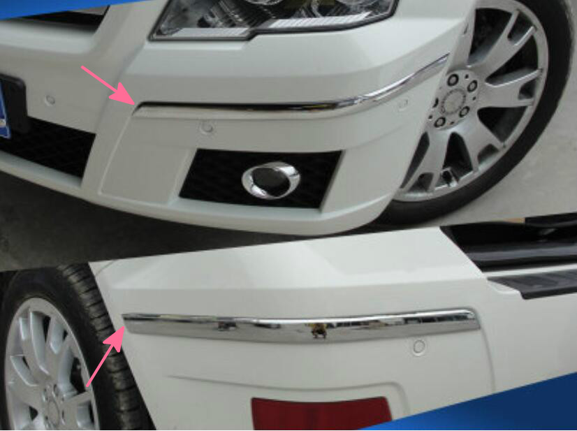 ФОТО Front & Rear Bumper corner protection trims For Benz GLK X204 2008-2012