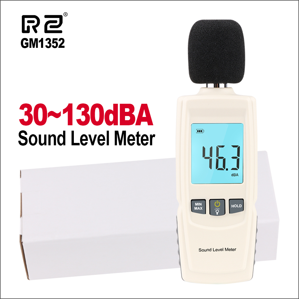 RZ Sound Level Meters Digital Sound Level Meter Sonometros Noise Audio Leve Meter 30-130dB Decibels Tester GM1352 Sound Meter