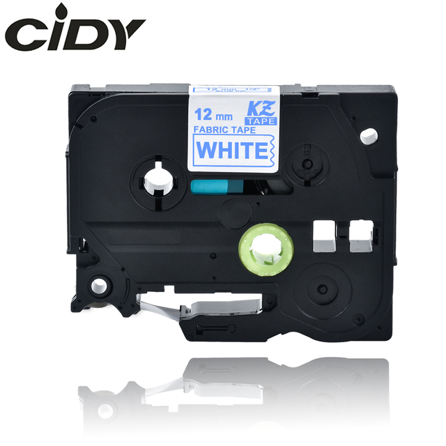 בד ברזל-על תווית CIDY תואם עבור Brother 12mm צה כחול על לבן קלטת TZe-FA3 TZ-FA3 TZ FA3 עבור Brother p-touch מדפסת