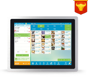 15 inch 2G Memory Payment register pos system / point of sale / 5-wire touch screen all in one pc pos