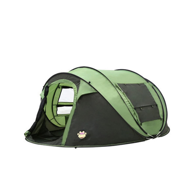 For 5-6 Persons Automatic Waterproof Breathable Tent Double Layer Oxford Cloth Durable Camping Backpacking Tent