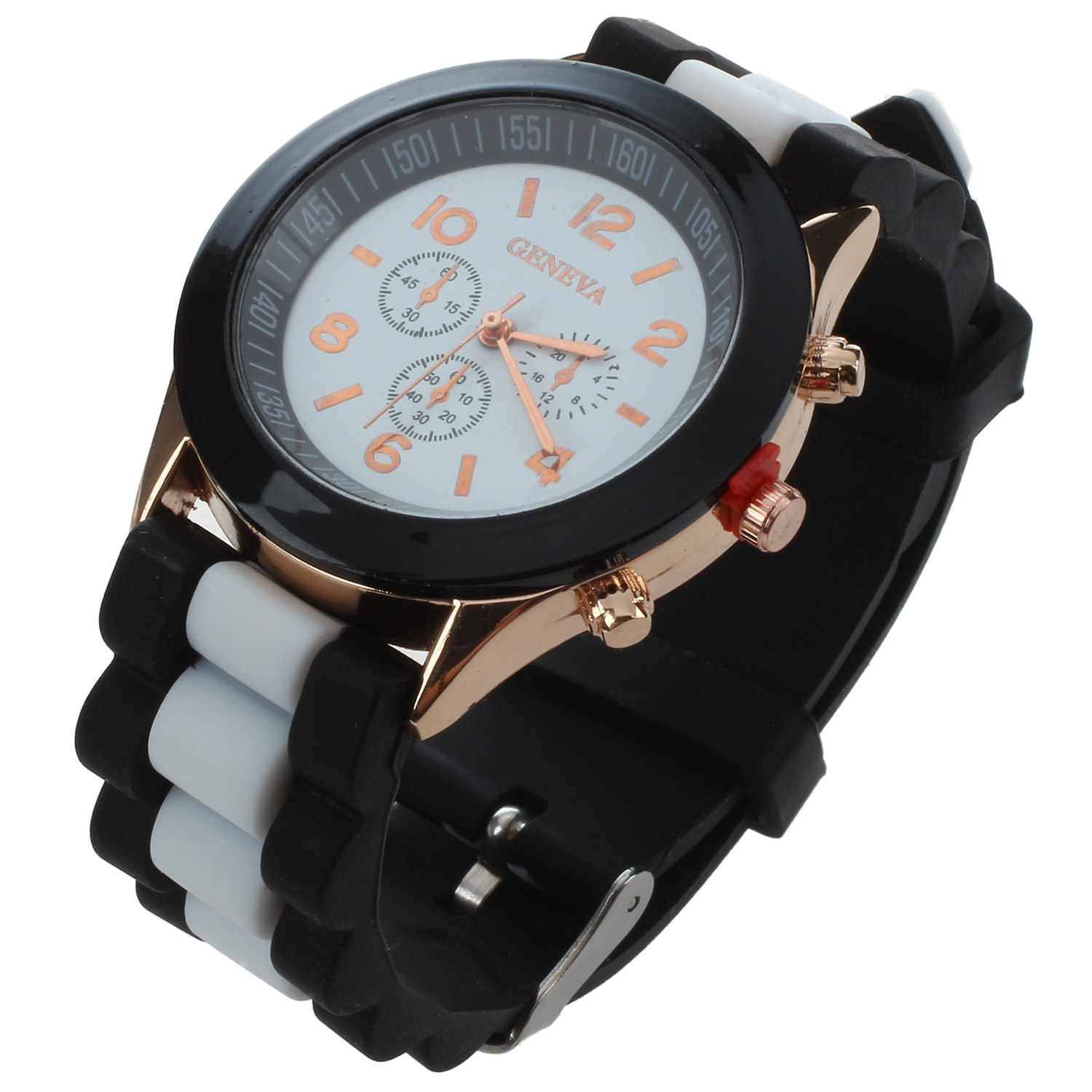 Practical Mens Womens Watches Silicone Jelly Gel Quartz Analog Sports Wrist Watch Colour:White black cocoshine a 912 women silicone rubber jelly gel quartz casual sports wrist watch wholesale free shipping