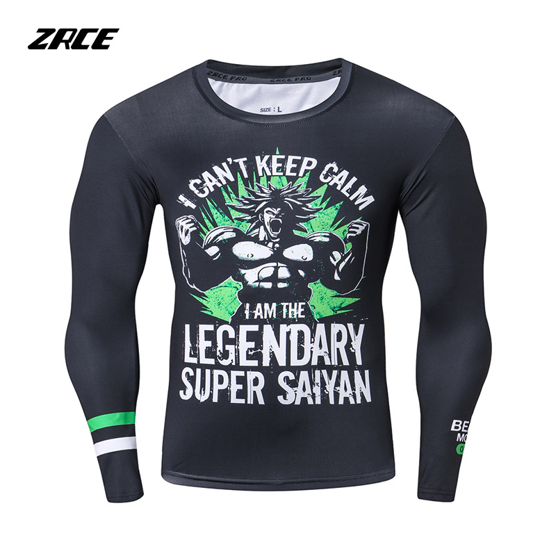 2018 Newest Compression   Shirts   Tights   T     Shirt   crossfit Bodybuilding Dragon ball   T     shirt   3D Rashguard Fashion Casual Men Top