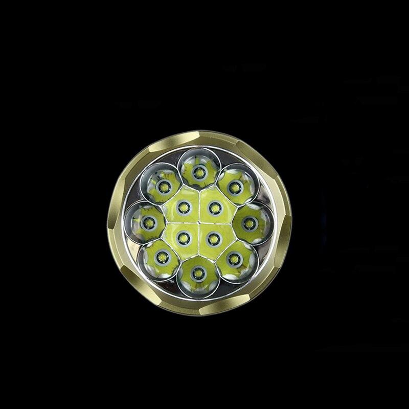 TrustFire AK 90 linternas LED de 12 * XML T6 de 13000 lúmenes 5 modos (H/M/L/Strobe/Sos) Luz de antorcha táctica de caza - 4