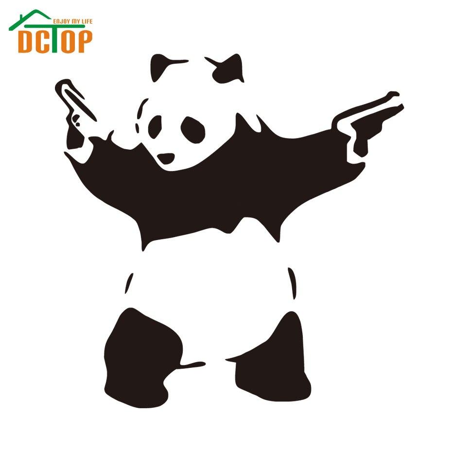 Design my car sticker - Panda With Guns Vinyl Decal Sticker Car Window Wall Bumper Truck Decor Accessories Creative Design
