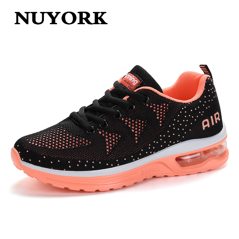 NUYORK new flats woman trainers breathable walking casual shoes high quality Women's shoes 2017 zapatillas mujer sneakers women hot sale new 2017 fashion flats women breathable sport woman shoes casual outdoor walking women flats zapatillas mujer