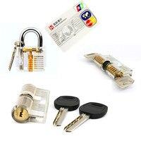 Free Shipping Locksmith Value Set 3pcs Different Practice Locks And One Card Tools 5pcs Mini Tools