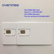 OYEITIMES пустой CDMA сим-карта s 2G сети CDMA сим-карта программируемый CDMA сим-карта, маленький размер, микро-и Nano sim-карта пустая