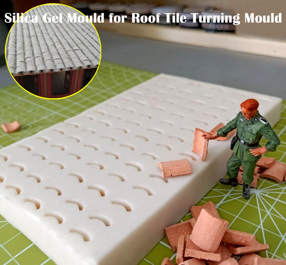 Miniature  Silica Gel Mould For Roof Tile Turning Mould  Scenario Sand Table Diy Material