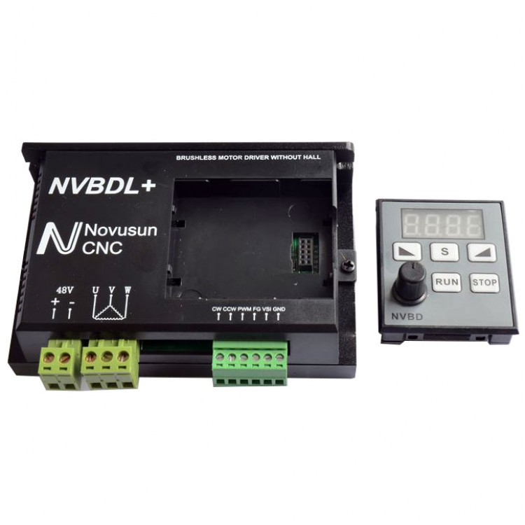 NVBDL+ Brushless Motor Driver without Hall Controller CNC for Spindle Engraving Machine bldc motor driver controller 120w 12v 30v dc brushless motor driver bld 120a