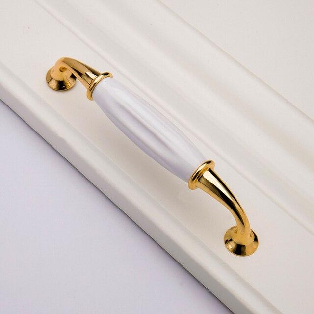 Mode Gold Weiß Keramik Griffe Schublade Schrank Türgriffe ...