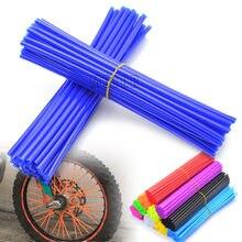 Capuchons de rayons de roue de moto, décoration de Tube enveloppant universel pour YAMAHA YZ WR SEROW TTR XT XTZ 80 85 125 250 450 F R X