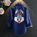 2-6Years/Spring Autumn Baby Boys Girls Clothes Coats Jackets Cartoon Rabbit Kids Cardigan Casual Denim Children Outerwear BC1115