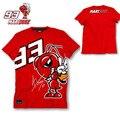 2016 nueva moda de verano moto gp 93 marc márquez camiseta los hombres de La Motocicleta de Manga Corta T-shirt Camisetas Casuales rojo más el tamaño M-XL