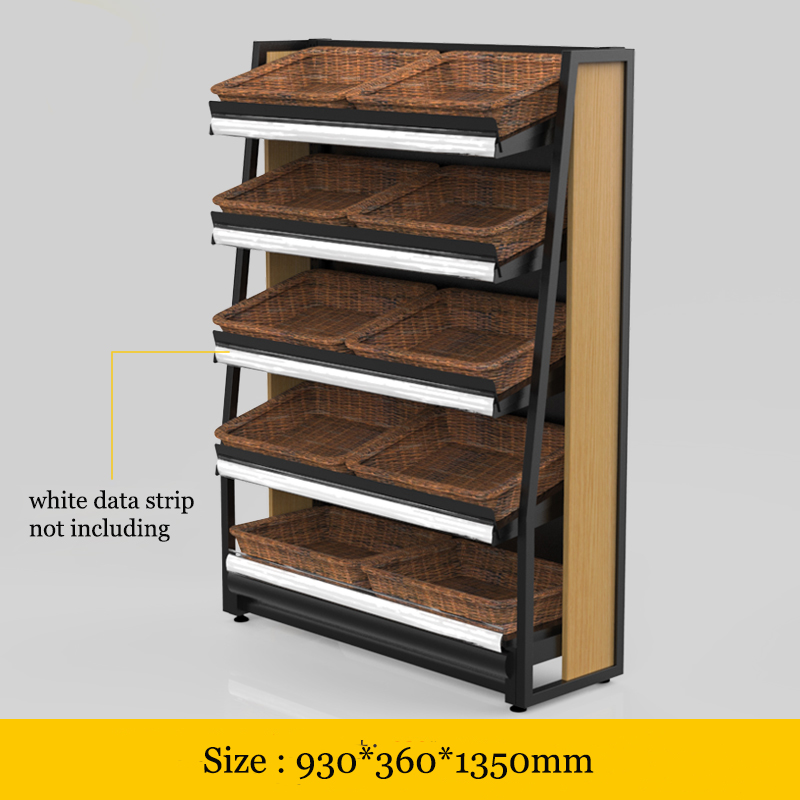 Stores Fruit Vegetable Bakery Bread holder Display Rack Supermarkets Promotions Display Shelves shelf