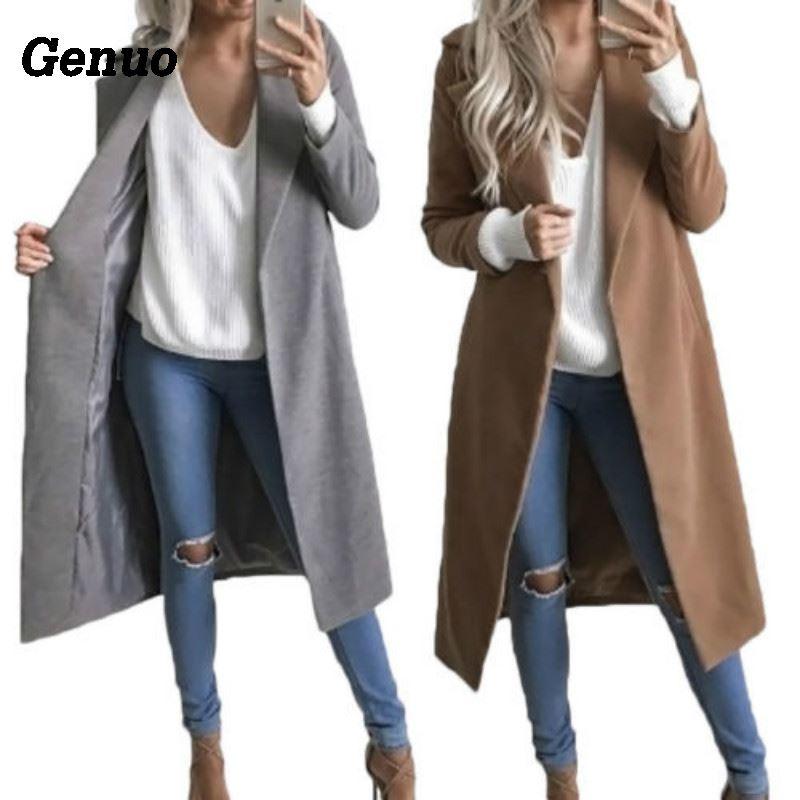 e706f6488f87e Genuo-Mode-Femmes-Hiver-Chaud-De-Laine-Manteau -2018-Occasionnel-Revers-Longue-Laine-M-lange-Parka.jpg