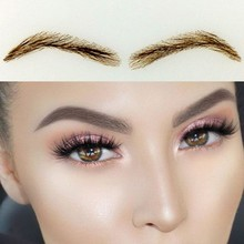 2016 Long lasting Natural Offer font b Sobrancelha b font 019 Human Hair Eyebrow Extensions Thick