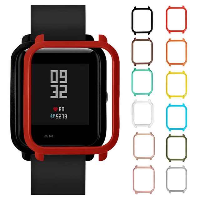 Watch Cases Frame For Amazfit Bip Youth Smart Watch Protector Case Slim Colorful Frame Case Cover Protect Shell For Xiaomi Huami