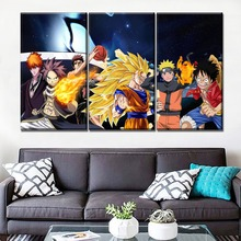 Wall Art Painting 3 Piece Modern HD Printing Type Animation Crossover Characters Canvas Pictures Home Decorative Unique Gift