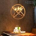 EKOO промышленный дом железный подвесной светильник Эдисон e12/14 кафе бар Винтажный стиль для гостиной кабинета