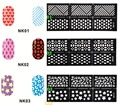 3 packs Nail Art Stickers 6 designs mágico impresión calcomanías Stencil herramientas del arte del clavo hueco dibujo para Nails UV Gel Polish uso
