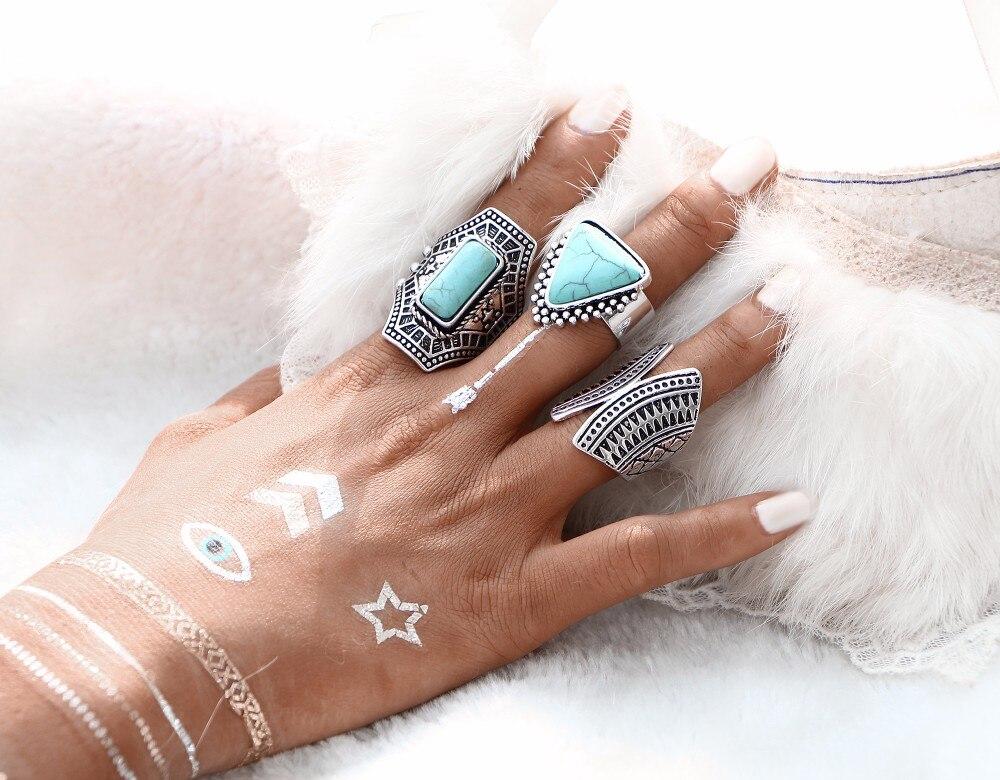 Women's Boho Style Rings Set Jewelry Rings Women Jewelry