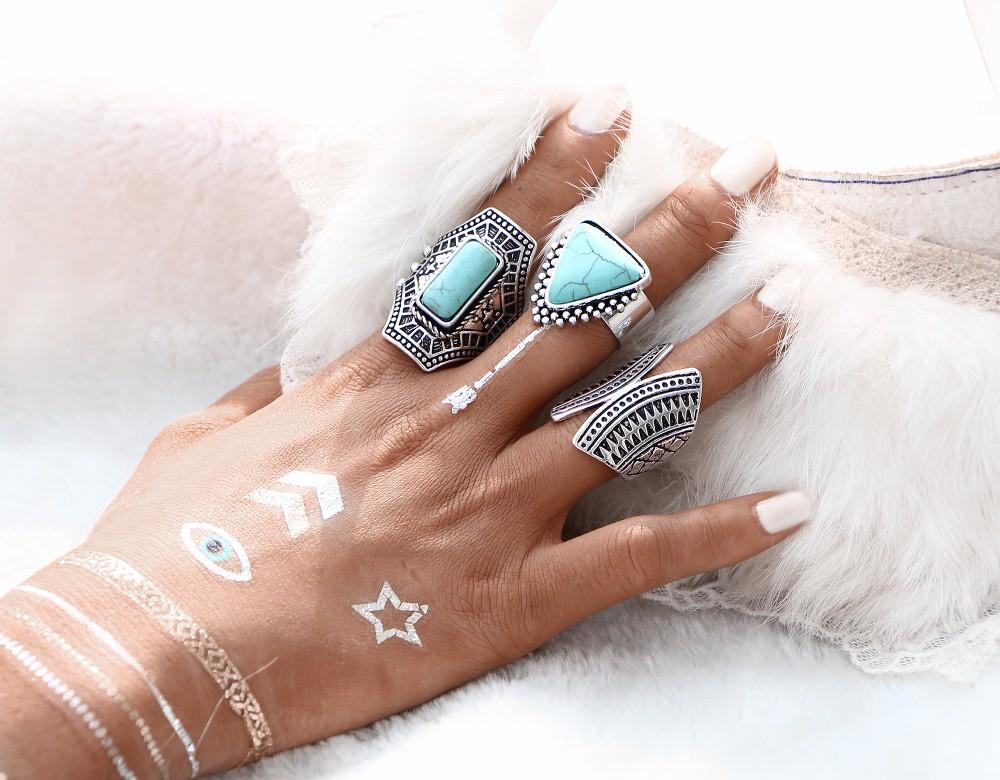 HTB13eWJNpXXXXbTaXXXq6xXFXXXj Boho Style 3-Pieces Vintage Punk Knuckle Ring Set For Women - 2 Colors