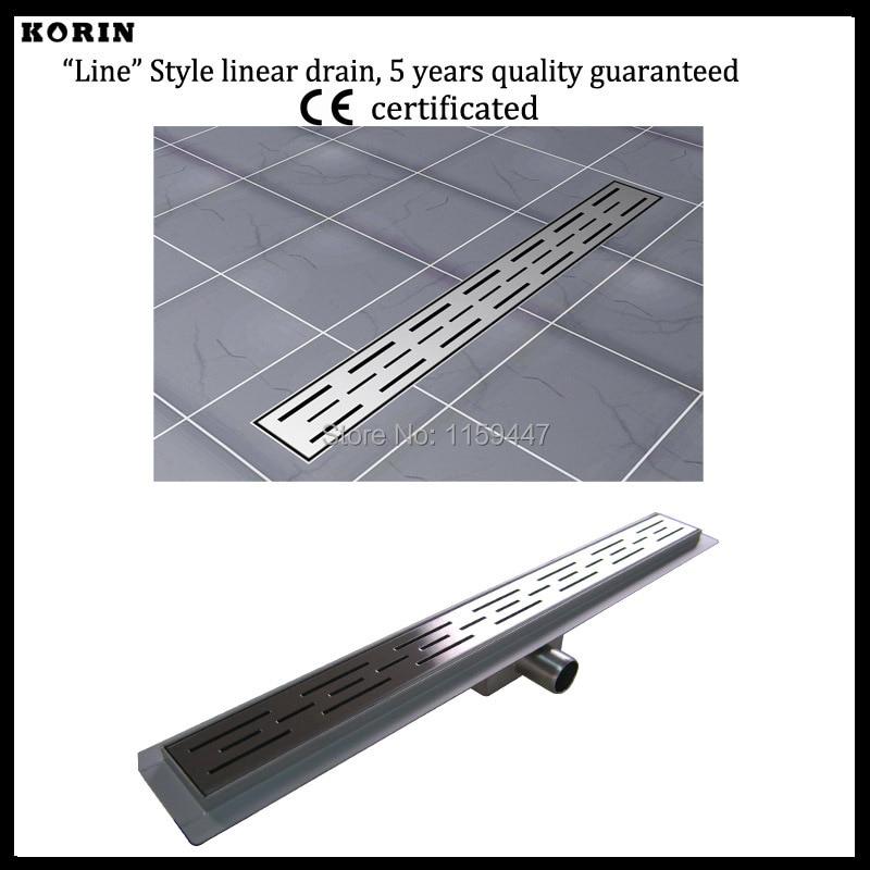 """Здесь продается  500mm """"line"""" pattern Stainless Steel 304 Linear Shower Drain, Horizontal Drain, Floor Waste, Deodorant floor drain  Строительство и Недвижимость"""