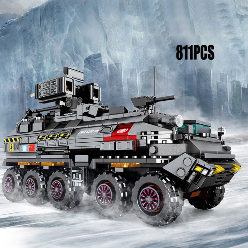 Legoings Tank 881pcs Building Blocks Military Army Model Set Educational Toys For Children