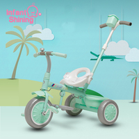 Infant Shining Children Tricycle Ride On Cars Kids Bicycle Ride on Toys Foam Three Wheels Adjustment Seat for 2 6Y Gift
