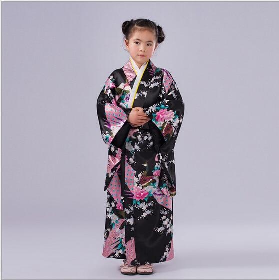 5 Färger Barn Yukata Obi Vintage Japanese Gril's Kimono Kids Yukata - Nationella kläder - Foto 4