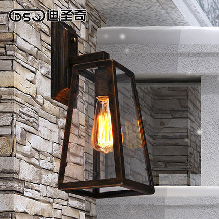 ФОТО American country Vintage loft industrial wall outdoor bar balcony bedroom European simple wall lamp