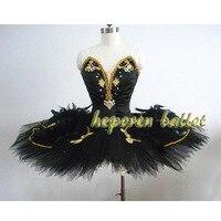 Новое поступление Черный лебедь Перо балетное платье для конкуренции, Профессиональный Жесткий органза блин Балетные костюмы репетиция па