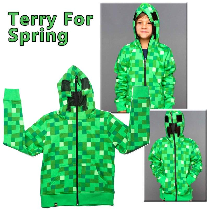 Ainie My world  Hoodie  Sport Cartoon Coat Teen  Kids Boys Children Spring Autumn Jacket Sweatshirt  Holloween Costume