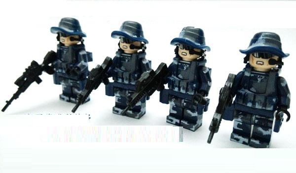 Marines weapons original Block gun toys swat police military lepin weapons army model kits city Compatible lepin mini figures тени ninelle тени для век luxe 422