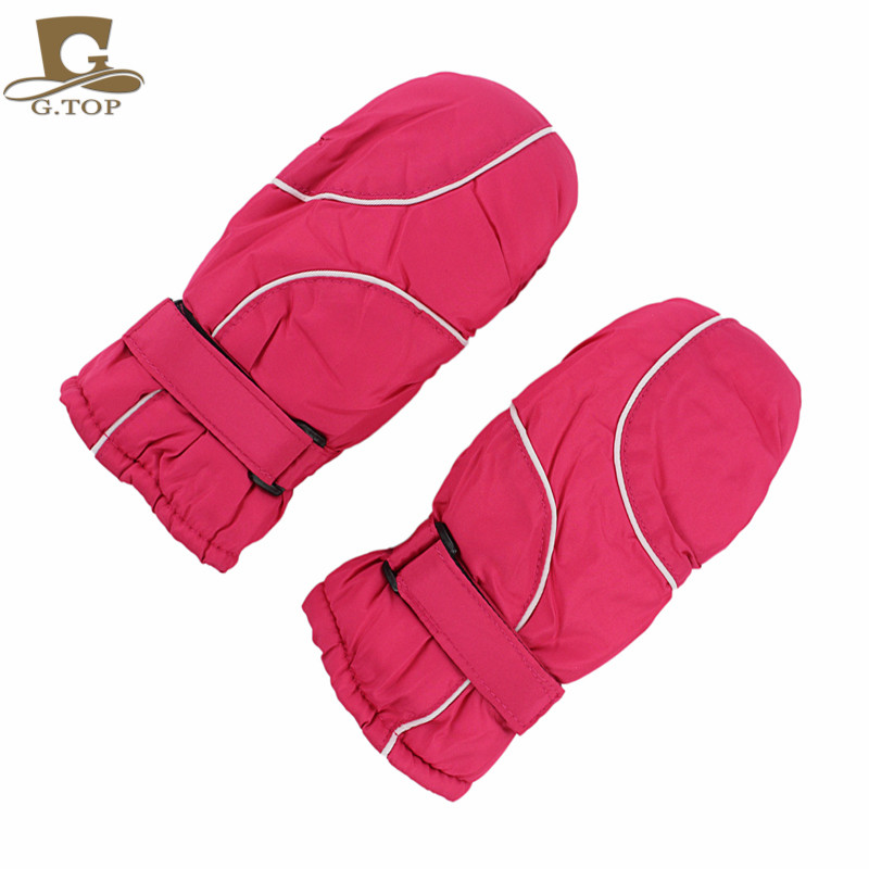 Kids Children Winter Waterproof Warm Snow Ski Mittens Outdoor Sport Gloves