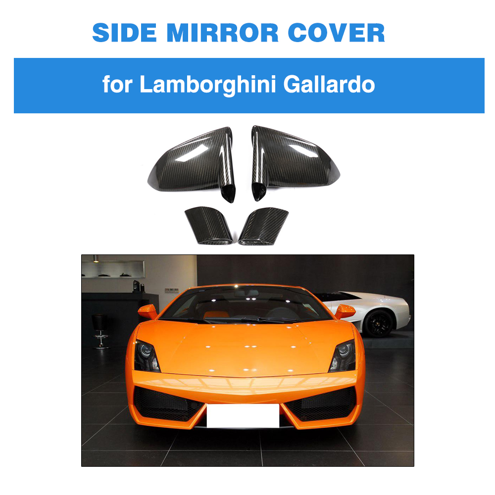 Mirror & Covers Dedicated Dry Carbon Mirror Cover For Lamborghini Gallardo Lp550 Lp560 Lp570 2008-2014 Replacement Style 1pair Rear View Mirror Cover Chills And Pains